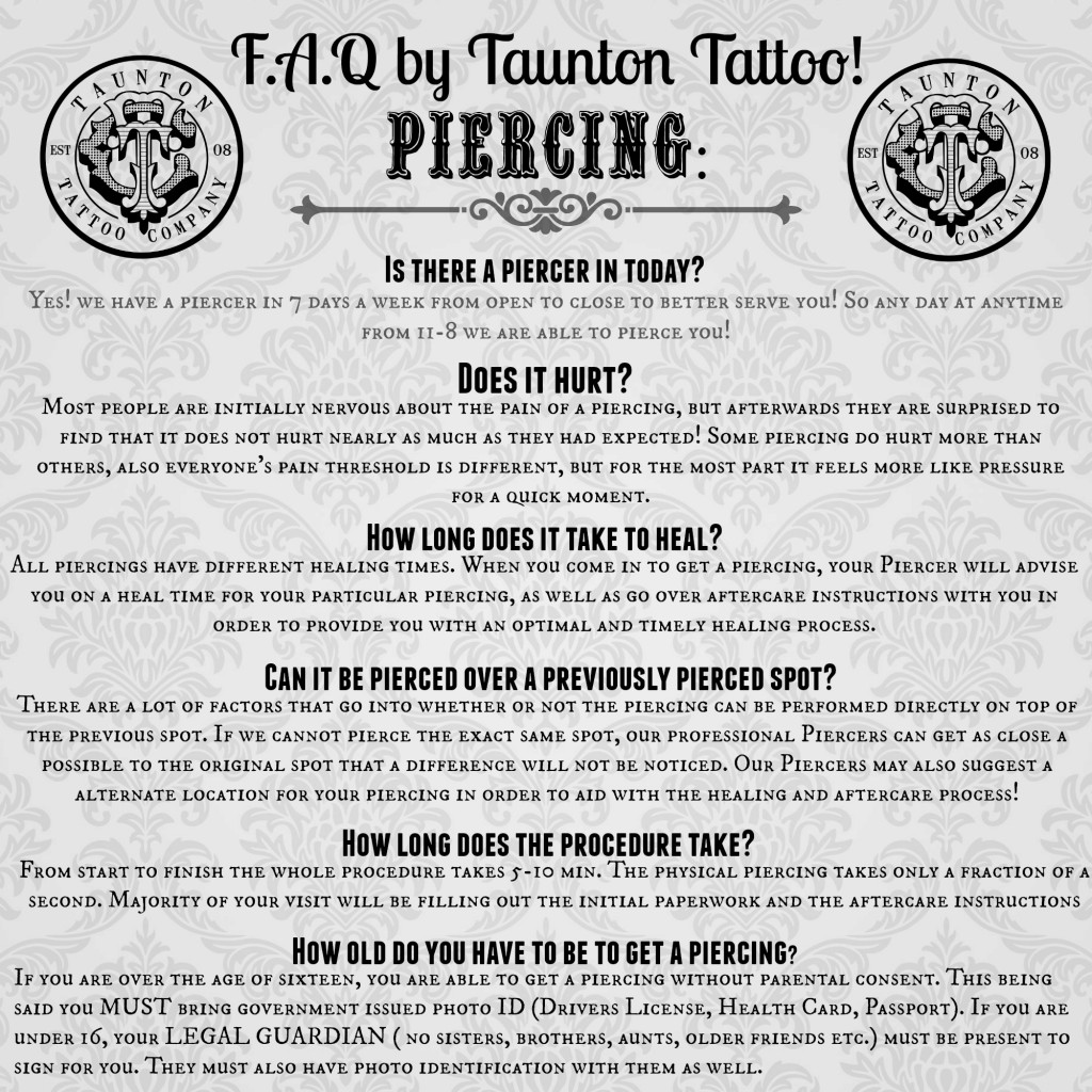 Taunton tattoo co piercings for Eyebrow tattoo aftercare instructions